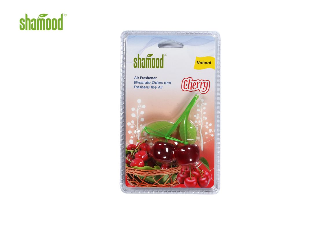 Plastic Cherry Eco Friendly Air Freshener Hanging Strong Smell Long Last
